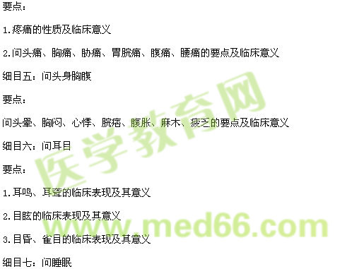 2017年中西医执业医师《中医诊断学》大纲