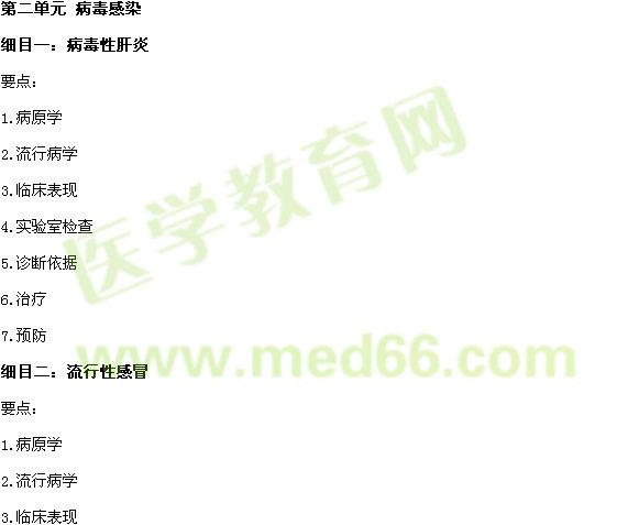2017年中西医助理医师《传染病学》考试大纲
