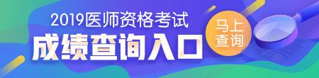 2019医师成绩查询入口